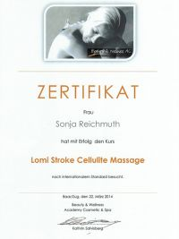 Diplom Lomi Stroke Cellulite Massage